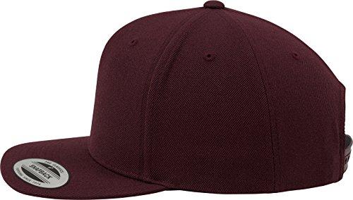 Flexfit Classic Snapback Cap, Mütze Unisex Kappe für Damen und Herren, One Size, plus extra Kindergröße brown