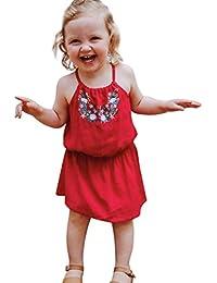 vestidos de niña, ASHOP Vestido de tirantes de patchwork floral vestidos de fiesta princesa niña Vestido de Tutú casual vestido de verano Ropa para 0-3años, Hot sale!