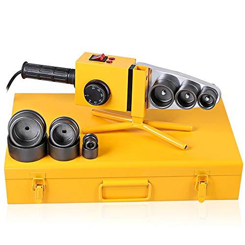 Preisvergleich Produktbild ZLUOK Muffenschweißgerät PE PP PB PVDF PVC Rohr Schweißgerät 220V 1500W 6 Gruppen Ärmel Ø20-63Mm (Gelb)