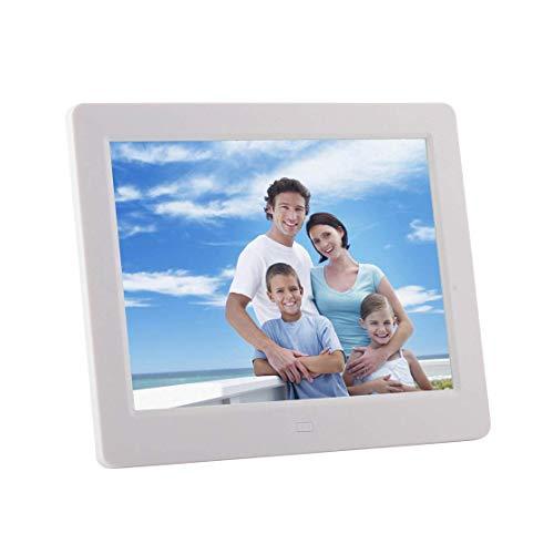 Digitaler Bilderrahmen 8 Zoll elektronischer digitaler Bilderrahmen mit hochauflösendem 800-Videoplayer/Kalender/Uhrzeit/Fernbedienung für die Wandhalterung