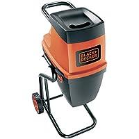 Black+Decker GS2400-QS - Biotrituradora eléctrica, 2400 W, 230 V, color negro y rojo