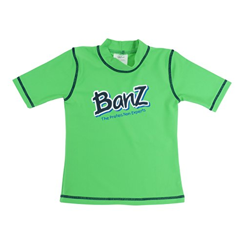 Baby Banz Camiseta Termica Manga Corta ANTI-UV Verde, 8 años.