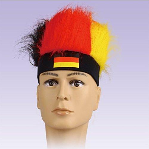 Fussball EM 2016 Fanartikel Deutschland Perücke Stirnband Haare