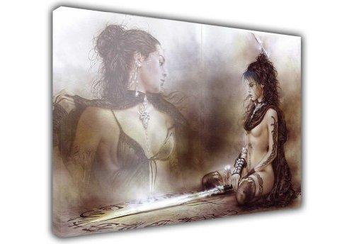 Abstrakt auf Leinwand, Bilder Nackt Nude Warrior Princess Gothic Schwert Prints Home Dekoration Raum Dekor, canvas holz, 9- A0 - 40