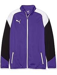 Puma Esito 4Poly tricot Jacket Chaqueta, primavera/verano, infantil, color prism violet-puma white-ebony, tamaño 8 años (128 cm)
