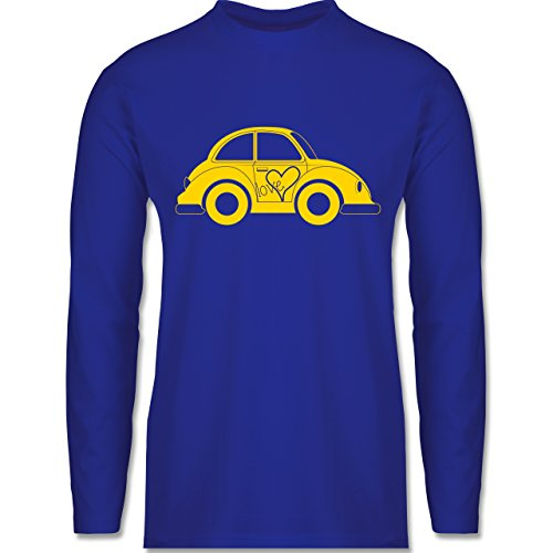 Shirtracer Autos - Liebes Beetle Auto - Herren Langarmshirt Royalblau
