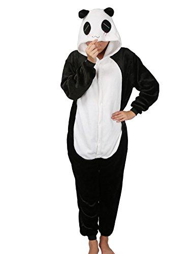 Pigiama cosplay party costume di carnevale halloween pigiama onepiece intero animali unicorno regalo di compleanno taglia s,m,l,xl (s(145-155cm), panda)