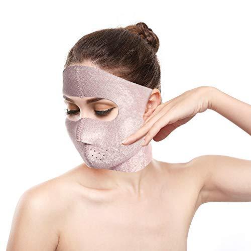 Lifting facial Mascarilla adelgazante Cobertura total Reducir Facial Doble barbilla Cuidado Pérdida de peso Correa de belleza