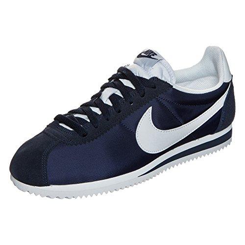 Nike Unisex-Erwachsene Wmns Classic Cortez Nylon Laufschuhe Azul (Azul (obsidian/white))