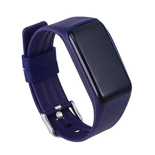 UKCOCO Reloj Deportivo Inteligente con Monitor de corazón Pulsera Fitness Impermeable Reloj de Pulsera Deportivo IP68 Sports Tracker para iPhone Android (Azul)