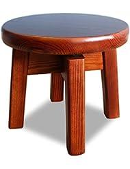 uus Haushaltshartholz kleiner runder Schemel, der Hartholzbankbalkon-Blumenrahmen, Wohnzimmerschuhschemel, hölzernen Stuhl kreativer einfacher erwachsener kleiner Schemel der Kinder dreht, kann 360 Gr