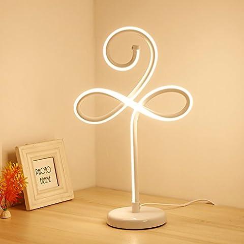 Ywyun Moderne minimalistische LED-Schreibtischlampe, kreative Spirale Aluminium-Lampen, Energiesparlampen Schlafzimmer Nachtbürodekoration ( Color : White )