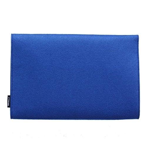 2087 Damen Envelope Clutch Bag Magnetverschluss Handtasche für Party und Hochzeit Rose 02-Blau