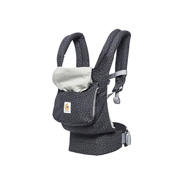 "Ergobaby Baby Carrier Toddler Front Back Original Starry Sky, 100% Cotton Ergonomic 3-Position Child Carrier Backpack Ergobaby Ergonomic Baby Carrier - Ergonomic for baby with wide deep seat for a spread-squat, natural ""M"" seated position. Baby carrying system with 3 carry positions:  front-inward, hip and back. From baby to toddler: 5.5*-15 kg (* from 3.2-5.5 kg / 7-12 lbs with Infant Insert, sold separately). Wearing comfort - All-day comfort with extra-padded shoulder straps (1 inch high density foam) and padded waistbelt  (1/4 inch) 3"