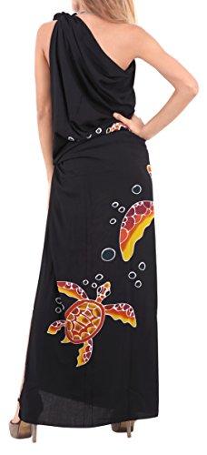 delfini costumi da bagno pannello esterno del costume da bagno wrap dress bikini delle donne coprire beachwear Jet Black 1