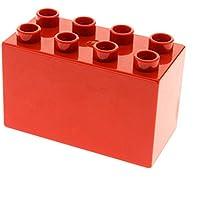 2 x Lego Duplo Bau Stein rot 2x2x2 Seite gewölbt Baum Stamm Tier Beine 31061 LEGO Bausteine & Bauzubehör