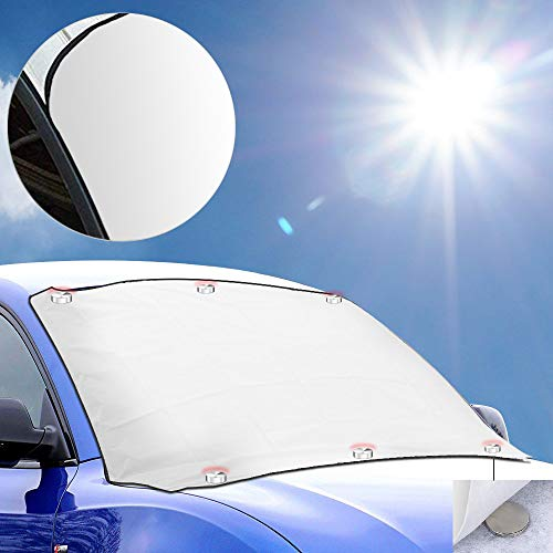 Oziral parasole per auto parabrezza auto protezione protezione dai raggi uv, adatto per la maggior parte dei veicoli contro la neve il gelo
