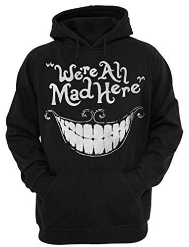 Kapuzenpullover Hoodie Halloween Cosplay Sweatshirt Hooded Sweat Einzigartig Galaxie Pullover (L/XL (Brustumfang: 114-134CM), Mad Hatter) ()