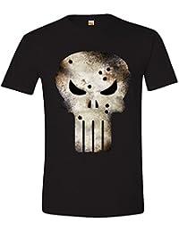 Marvel Herren T-Shirt Punisher Shot