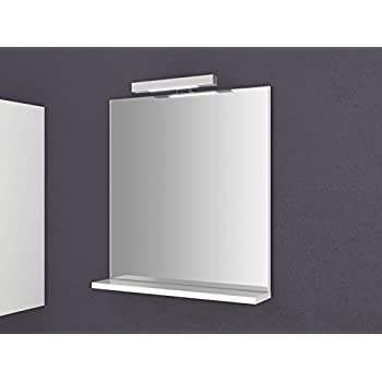 Spiegel mit Ablage Girona 60 und 80 cm breit Beleuchtung ...