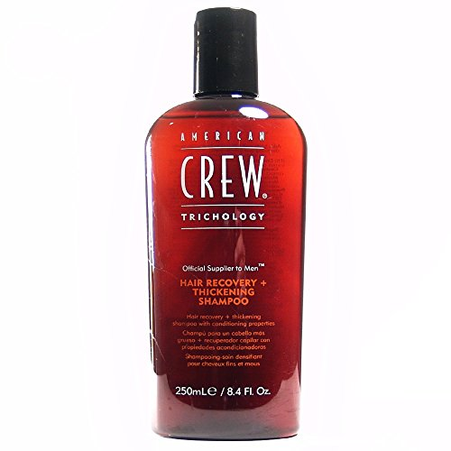 AMERICAN CREW ANTI-HAIR LOSS + THICKENING SHAMPOO Shampooing densifiant pour Cheveux Fins/Mous, 250ml