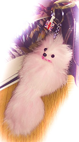 3-fur-2-big-soft-fluffy-baby-pink-20cm-designer-real-quality-pelz-schlusselanhanger-fur-beutel-handy