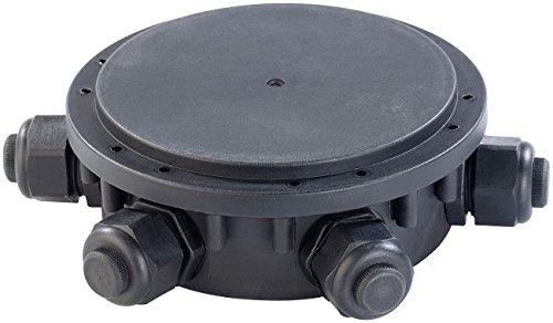 revolt Gartensteckdose IP68: Outdoor-Kabel-Verbindungsbox, 6-fach, IP68, für Kabeldurchm. 6,5-11 mm (Verteilerbox)