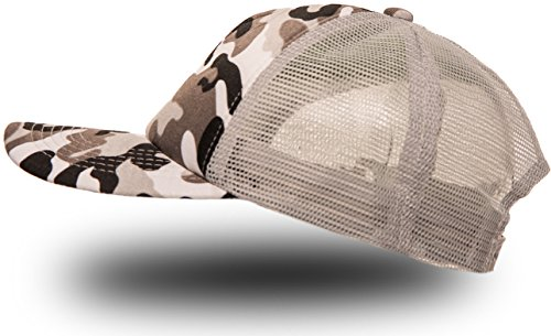 Trucker Cap Mütze Classic Happy für Herren und Damen, One Size Snapback (Army Grey)