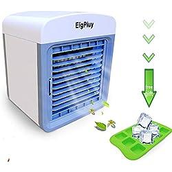 EigPluy Personnel Refroidisseur D'air 6.5-inch haut Mini Climatiseur Portable USB Alimenté Ventilateur 4 en 1 Refroidisseur D'air Evaporatif avec Humidificateur et Purificateur