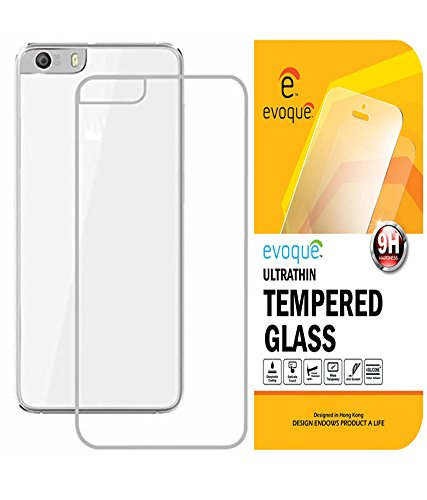 Evoque High Quality Ultra Thin Transparent Silicon Back Cover For Micromax Canvas Knight 2 E471 With Tempered Glass  available at amazon for Rs.175