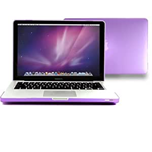 """GMYLE® Deep Hot Purple Raspberry Frosted Matte Rubber Coated See Thru Hard Shell Clip Snap On Case Skin Cover for Apple 13.3"""" inches Macbook Pro Aluminum Unibody (not fit for 13 Macbook Pro with Retina display)"""