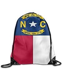 Preisvergleich für Shanzhi Flag of North Carolina Lustige Turnbeutel mit Kordelzug für Reisen, Schulrucksack