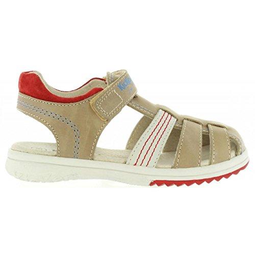 Kickers Sandalen für Junge 349503-30 Platinium 123 Gris Rouge Schuhgröße 33