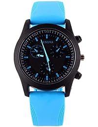 DAYLIN Relojes Esfera Grande Hombre Mujer Reloj Deportivo Niño Niña Correa de Silicona Reloj Pulsera de Cuarzo Analogico Relojes Sports Wrist Watch