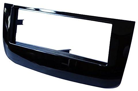 AERZETIX: Adaptateur Autoradio Façade Cadre Réducteur noir brillant pour auto voiture