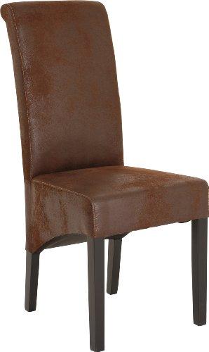 Stühle Sessel hoch, Mikrofaser, braun (2 Stück) (2 Stück Wohnzimmer Chaise)