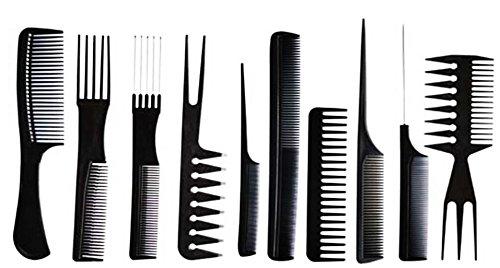 10 pcs de haute qualité Peigne Coiffeur professionnel Noir Brosse de coiffure Barbiers Pik