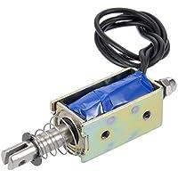 Elettromagnete Solenoide Con Telaio Aperto,Da Premere E Tirare,600G,Dc 12V 1A 10Mm Di Strozzatura