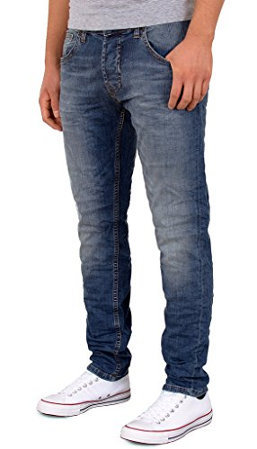 by-tex Herren Jeans Hose Slim Fit Basic Jeanshose Used Look Stretch Jeans A427 A427