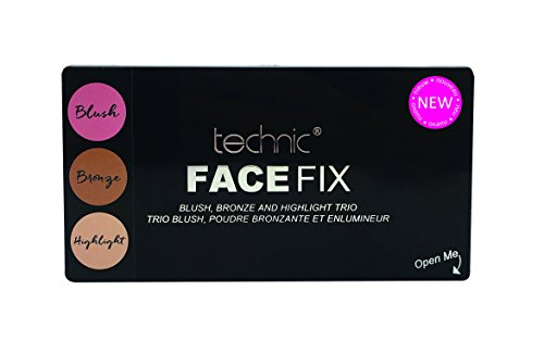 Technic Face Fix Blush, Bronze and Highlighter Trio Face Palette (Bronze Trio)