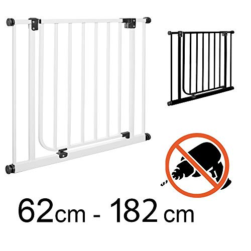 TOM - Barrière de Sécurité | 113-122 cm | sans perçage | escalier et porte | +20+20