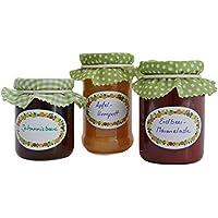 Jumbo de conservas etiquetas Pack de 3x 100Stk, presupuesto etiquetas–Autoadhesivo para mermelada, Conservas de y especias