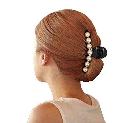 Haarklammer mit Kunstperlen, Haarkralle, Zubehör Haarschmuck Haarspange Haarklammer Greifer