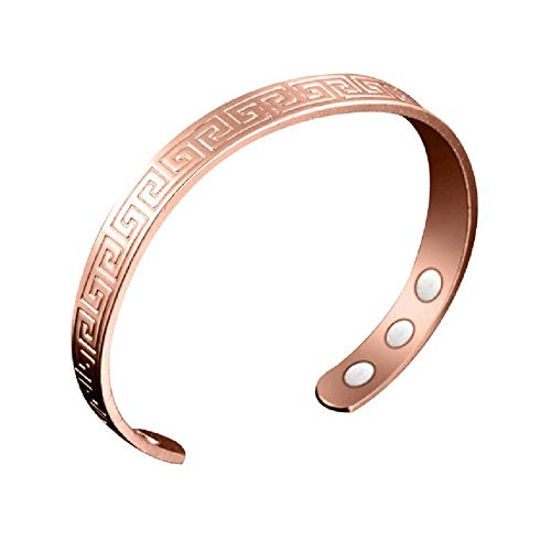 62823570299 PETUNIA Charming Women Magnetic Health Bracelets   Bangles Open Mouth  Bracelet - Rose Gold