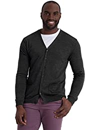 dce9144604d308 Woolovers Mens New Merino V Neck Knitted Cardigan