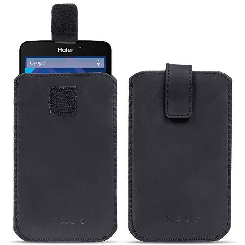 NAUC Haier Phone Voyage V5 Leder Tasche Pull Tab Sleeve Hülle Schutzhülle Case Cover