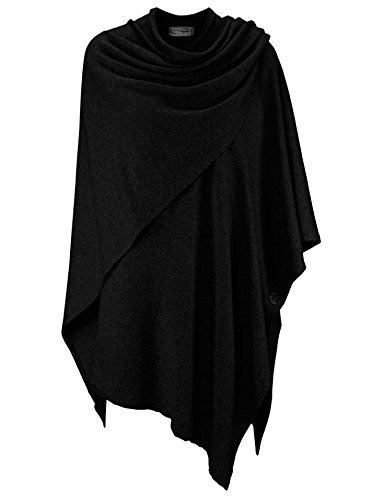 Zwillingsherz Poncho-Schal mit Sommer Kaschmir – mit kuschel Garn - Hochwertiges Cape für Damen - XXL Umhängetuch und Tunika mit Ärmel - Strick-Pullover - Sweatshirt - Stola (swr)