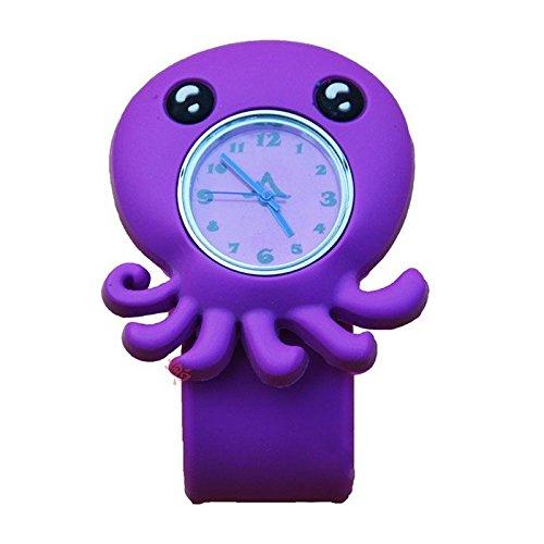 MMRM 3D Animal Mar unisex Niños /bebe reloj de pulsera de silicona reloj de cuarzo pulpo