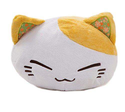 Meralens Funnylens gelbes Nemu Neko Nemo Neko Kuscheltier Katze - Manga Anime Otaku Kawaii Stofftier - Plüschtier Plush Cat Katze Merchandise zum Kuscheln Original aus Japan Höhe 25cm und Breite 34cm