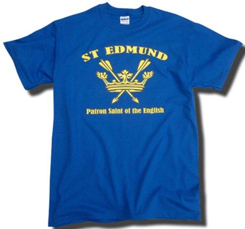 england-t-shirt-st-edmund-patron-saint-of-the-english-full-chest-royal-blue-x-large
